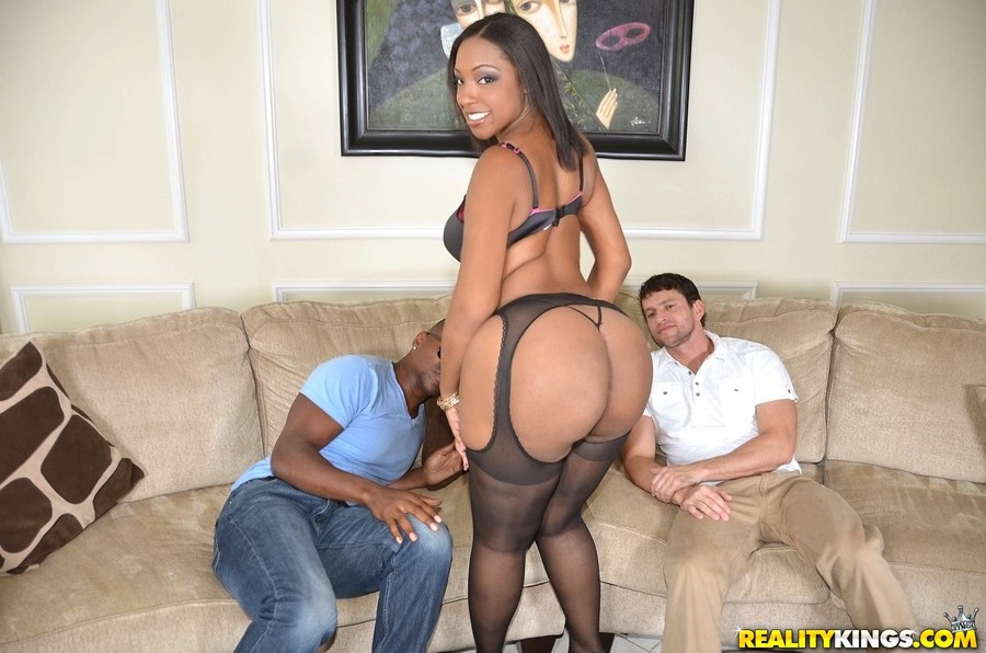 Ebony sluts interracial