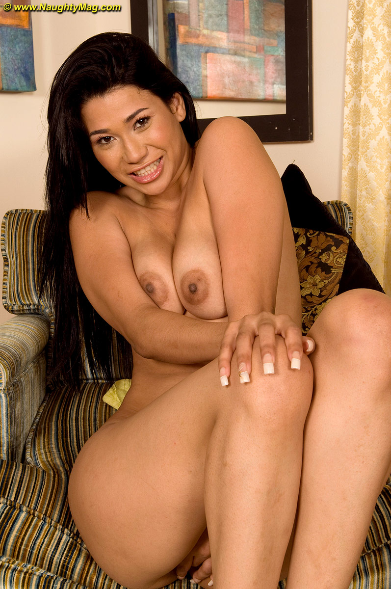 First timer Alicia Reyes removes see thru top and shorts to pose nude