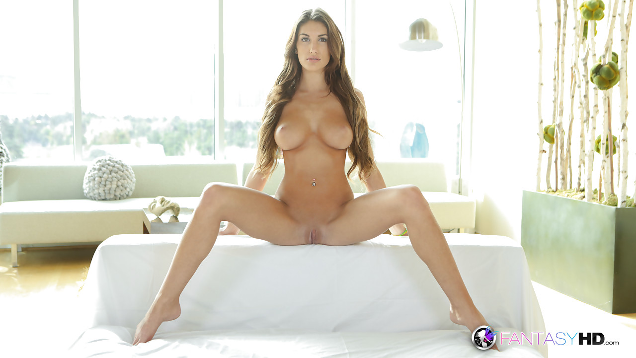 August ames covered in cum