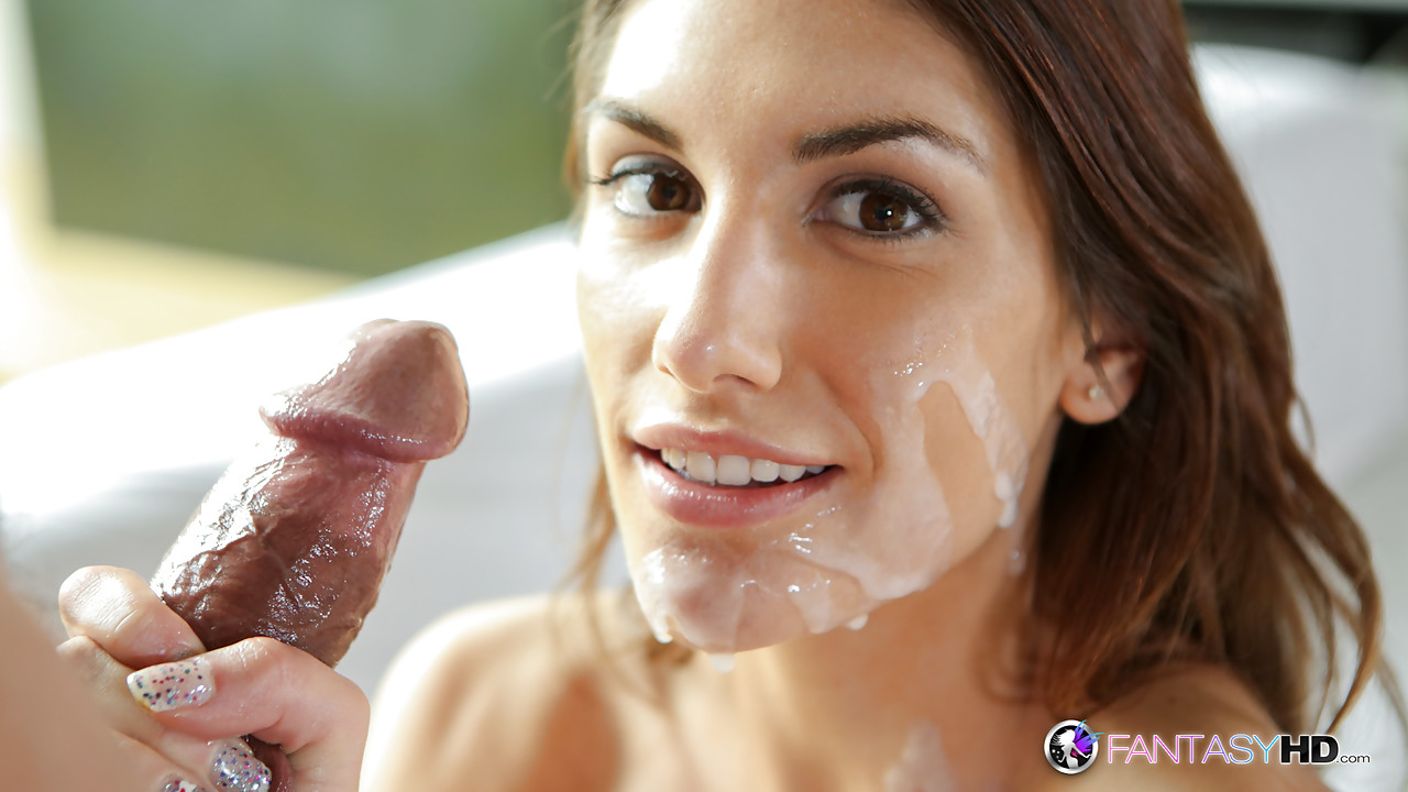 August ames cum on face