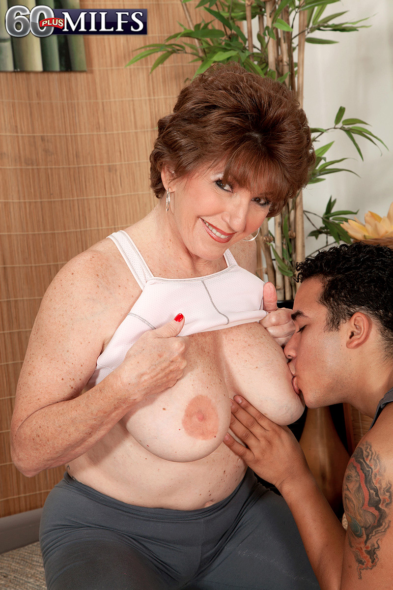 Bea Cummins And Jewel Complete redhead granny bea cummins seduces her yoga instructor with the
