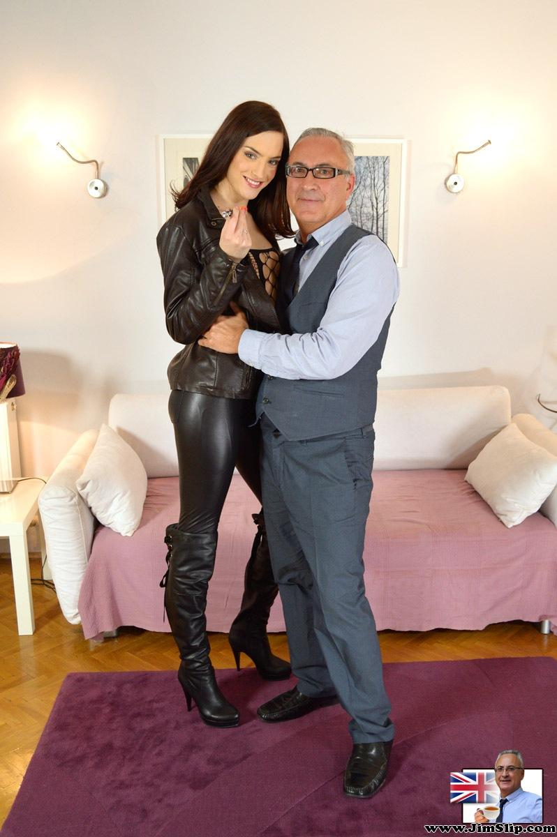 image Stocking wearing euro mature spanked before she is fucked