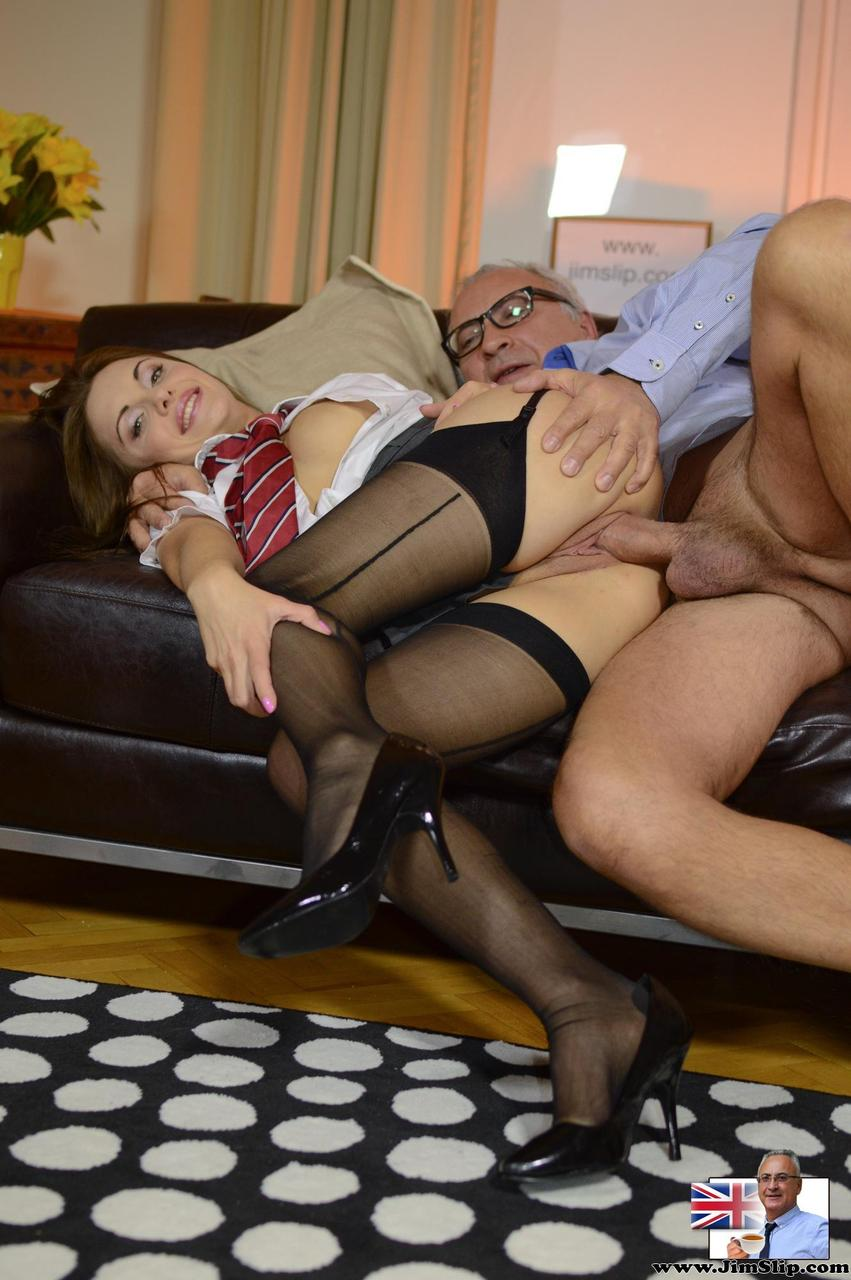 Girl in stockings fucked