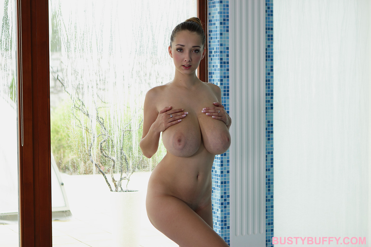 Watch busty babe lucie wilde's big titties swinging as she gets fucked doggy style