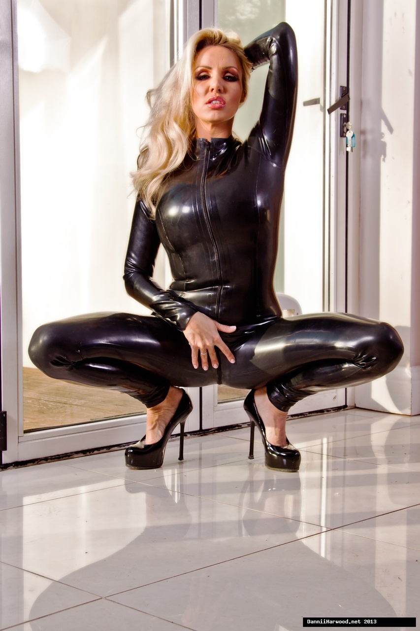 Latex catsuit porn