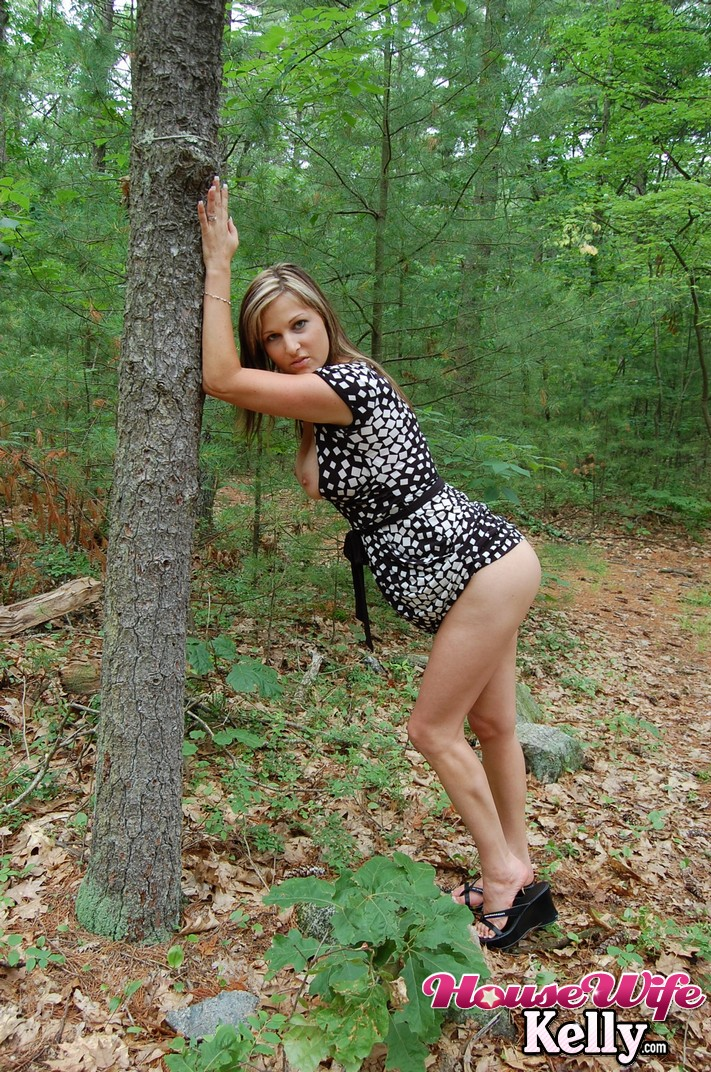 Big tit milf fucked in the woods