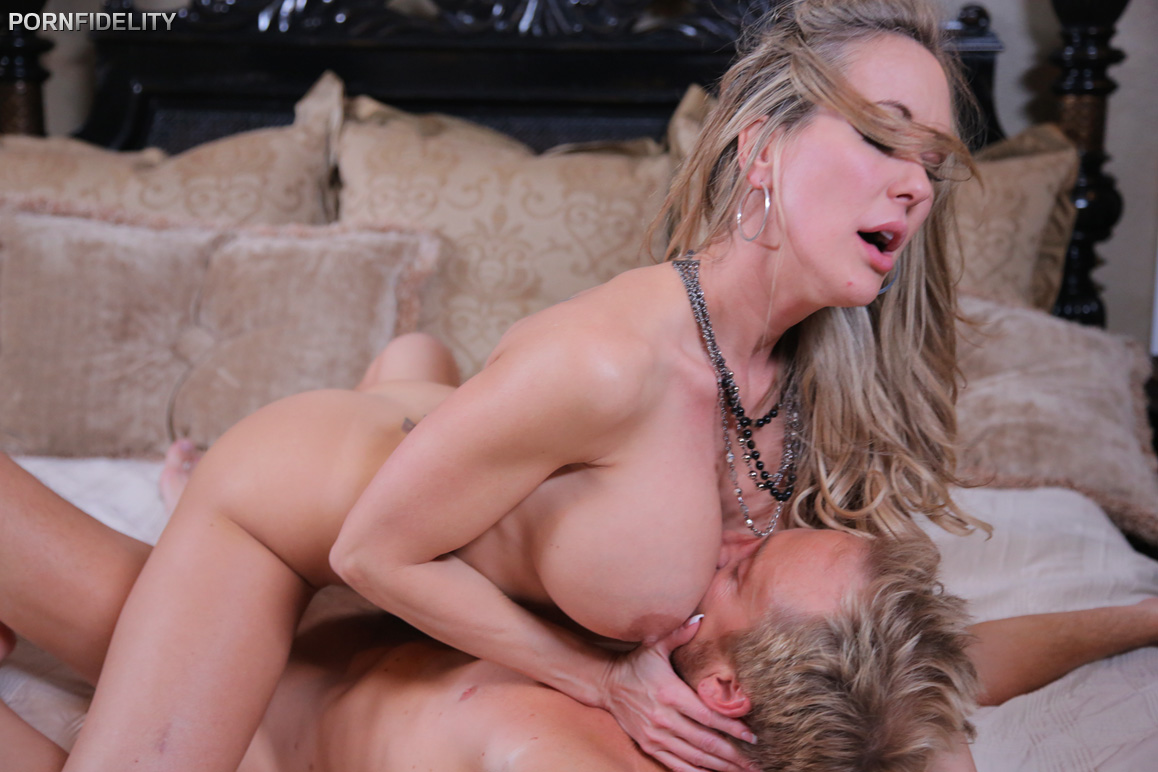 Brandi Love Teaches Son