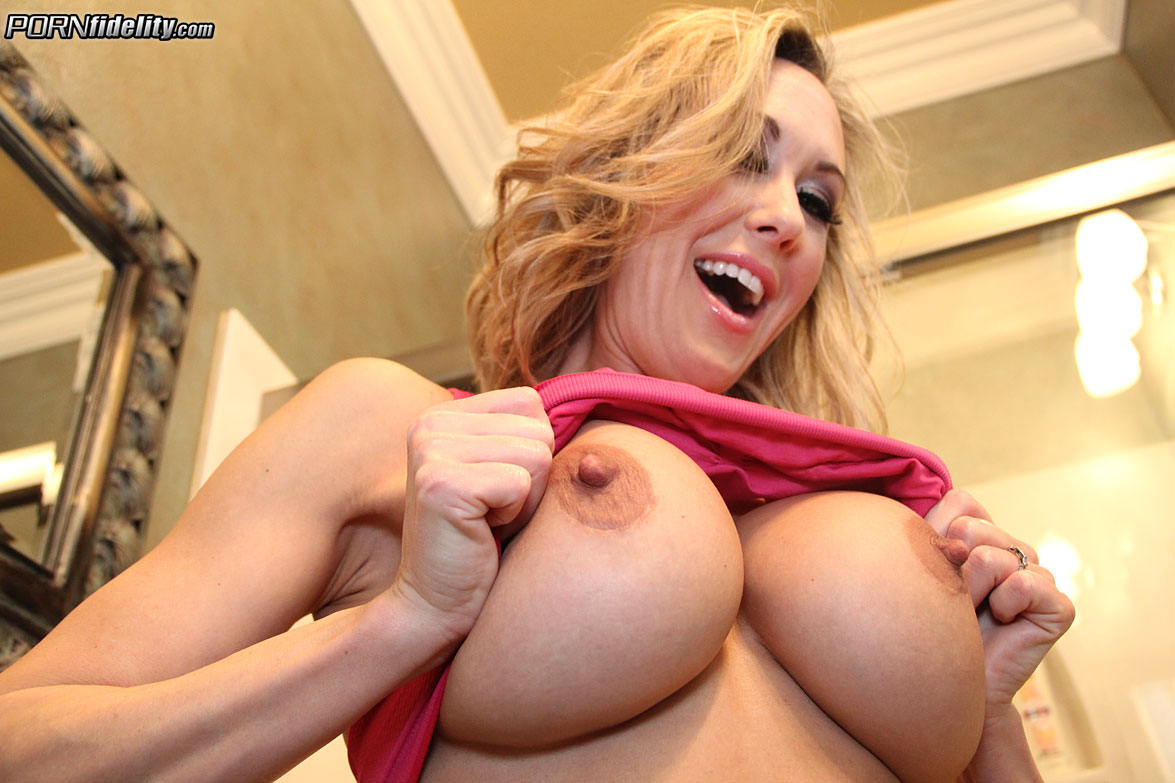 Brandi love big tits in sports