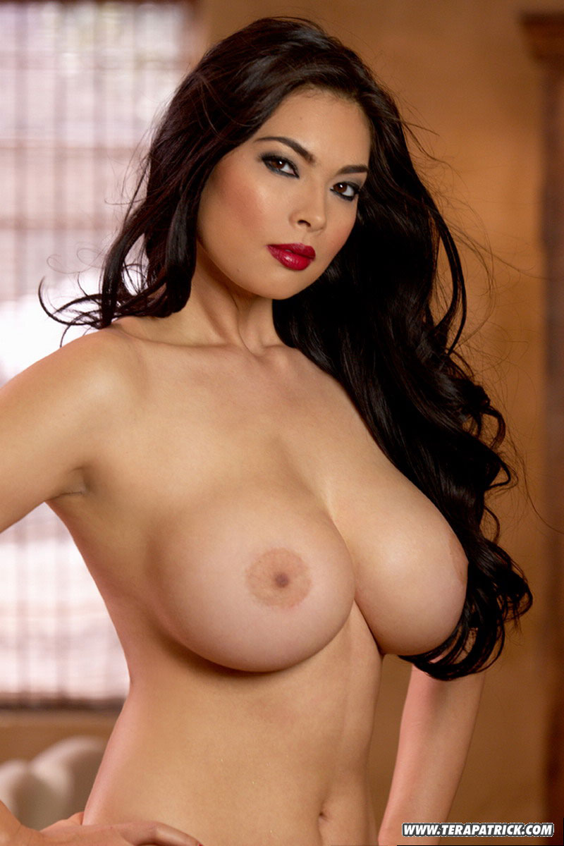 asian big milf - ... Mature Asian MILF pornstar Tera Patrick in sexy panties flaunting her  big tits ...