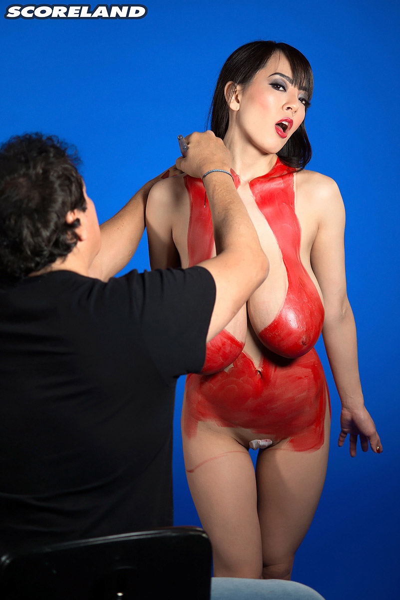 Huge tits body paint nude