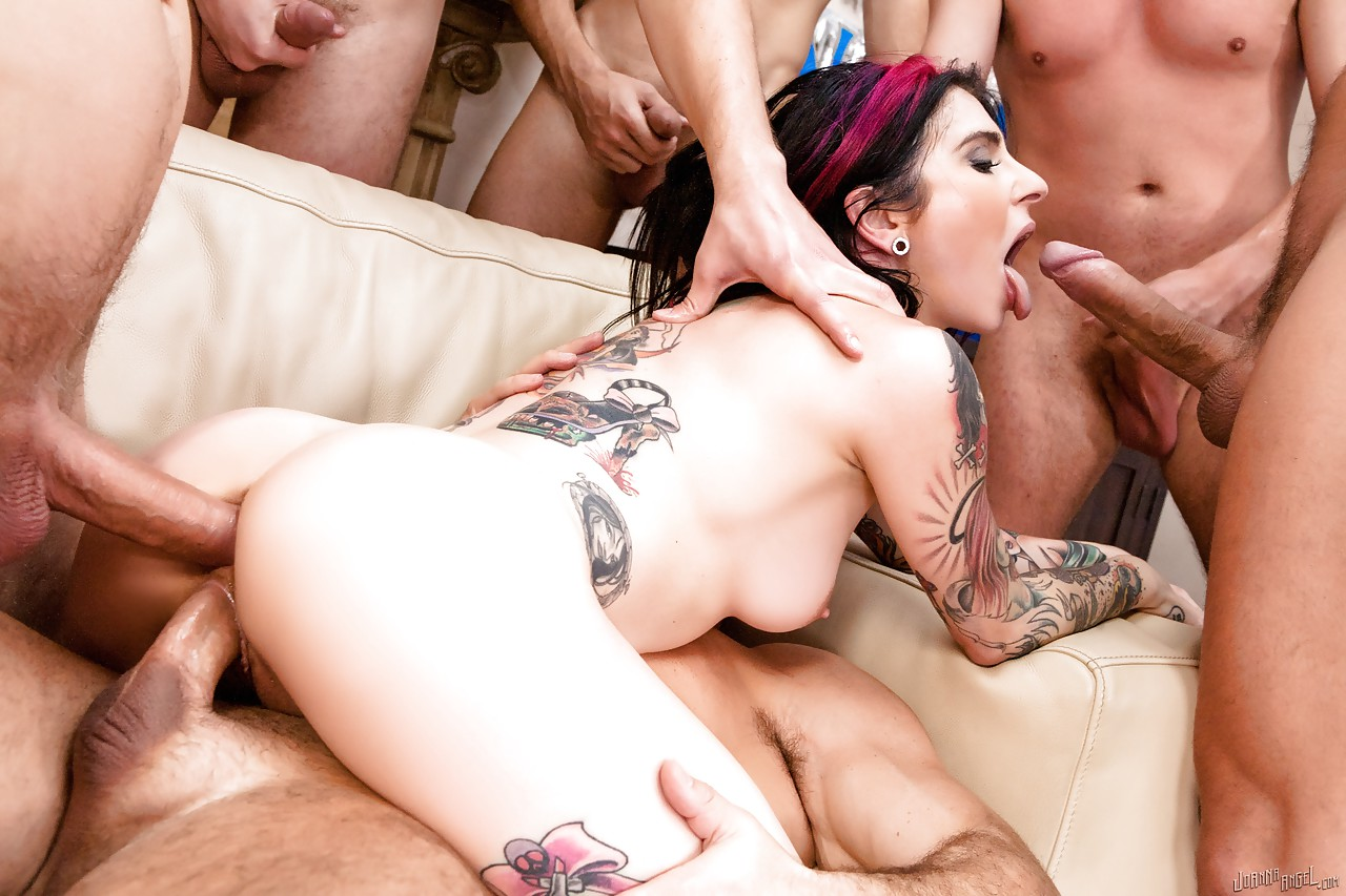natural breast amateur anal tattoo - ... Tattooed brunette amateur Joanna Angel dripping jism from mouth after  gangbang ...
