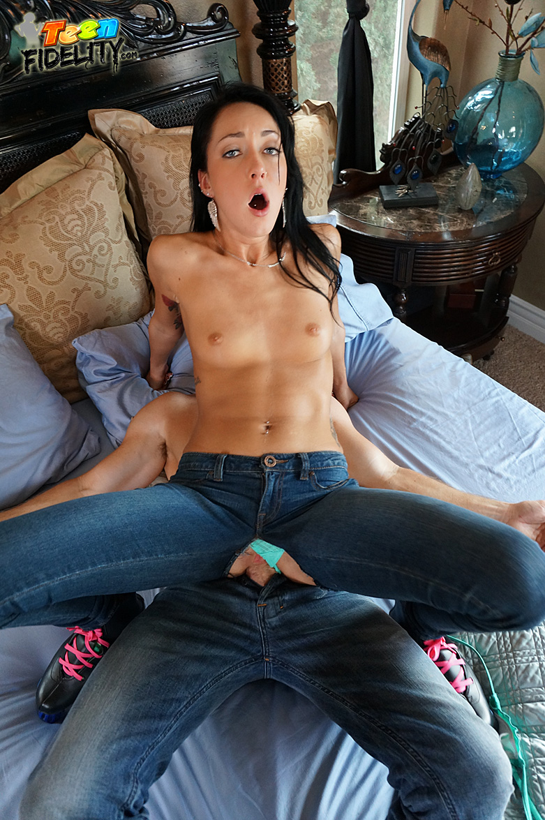 In jeans fucked tight girl