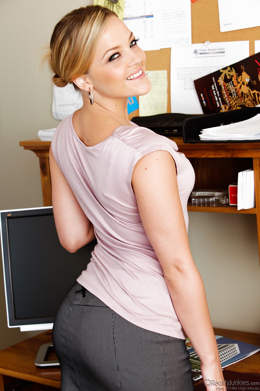 Entertaining big booty office skirt for that