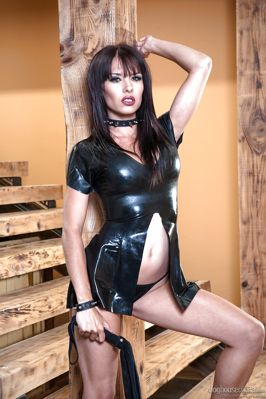 Bound latex boob