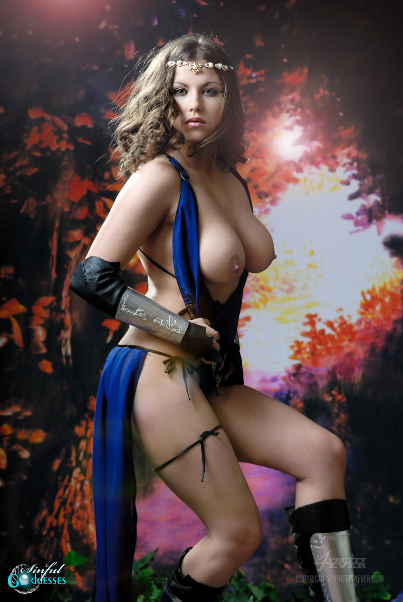 Fantasy nude woman warrior sexy