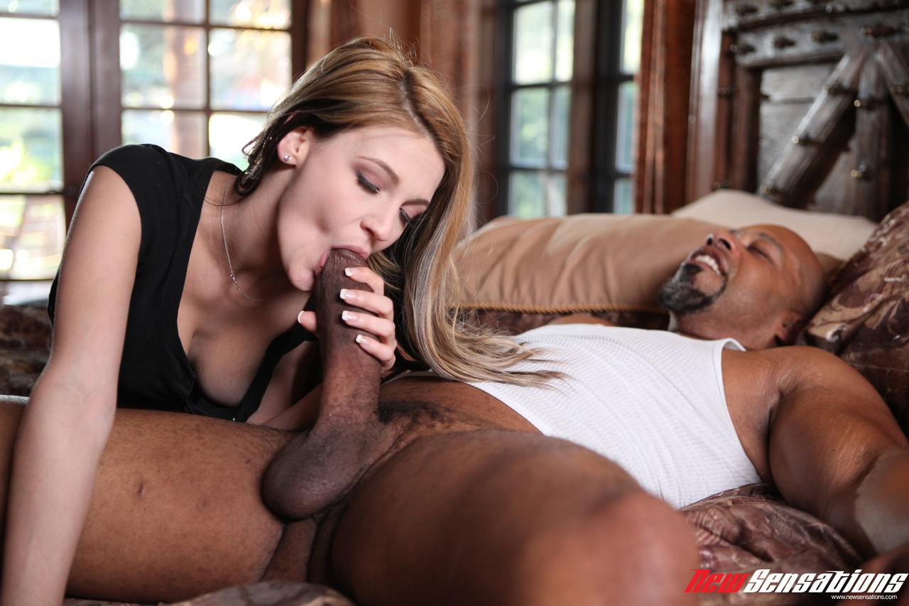Busty college girl goes interracial with a monster