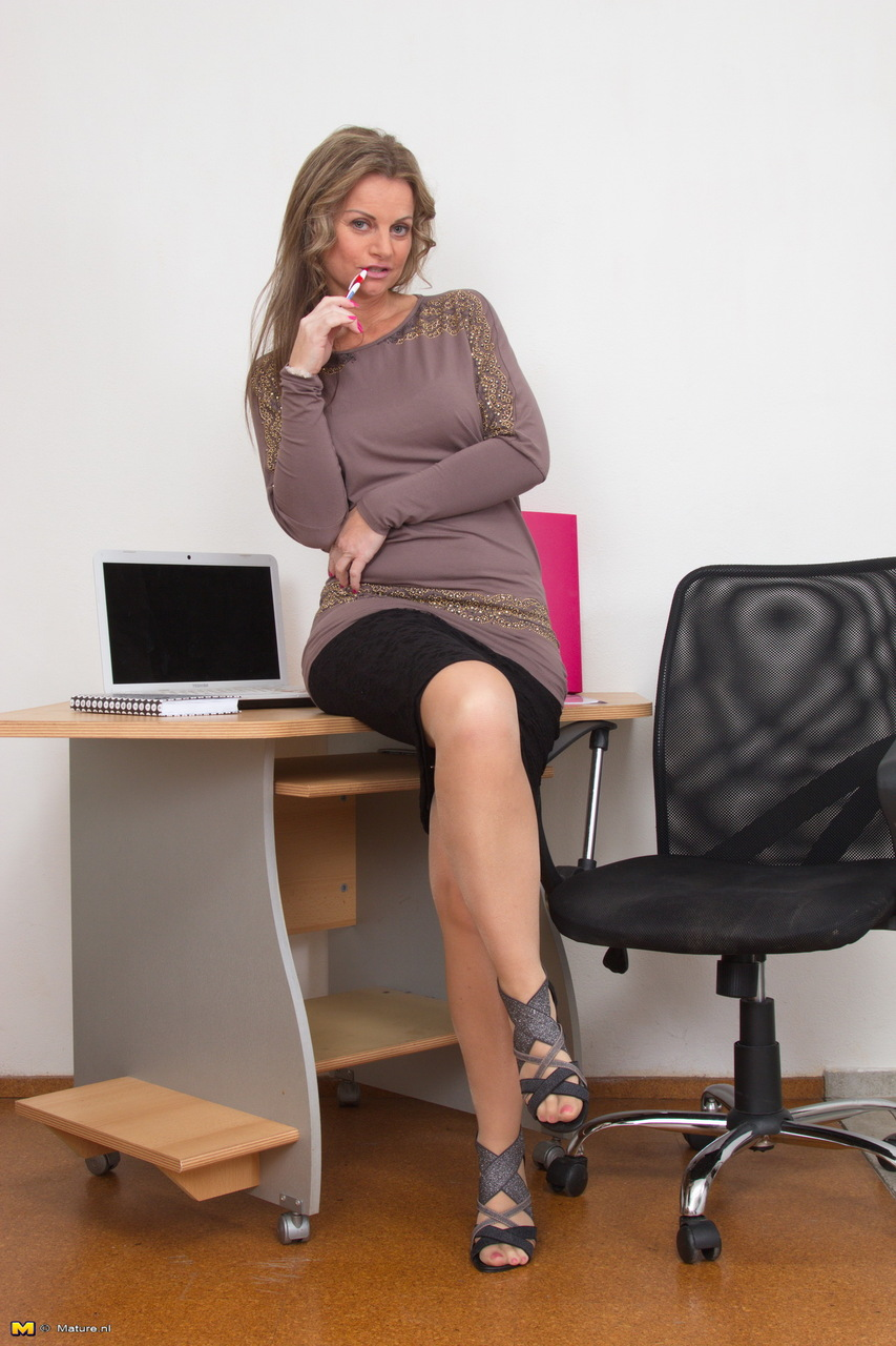 milf in office nude