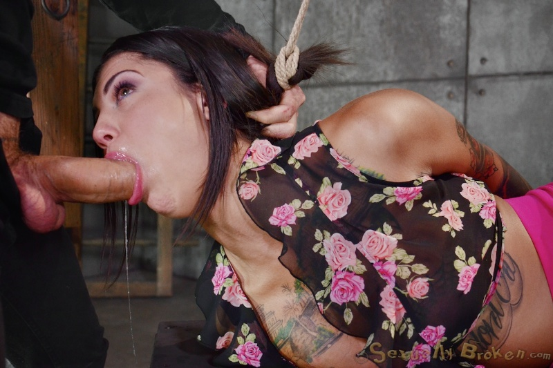 bonnie rotten sexually broken - ... Tattooed female Bonnie Rotten drips jizz after a face fuck in a dungeon  ...