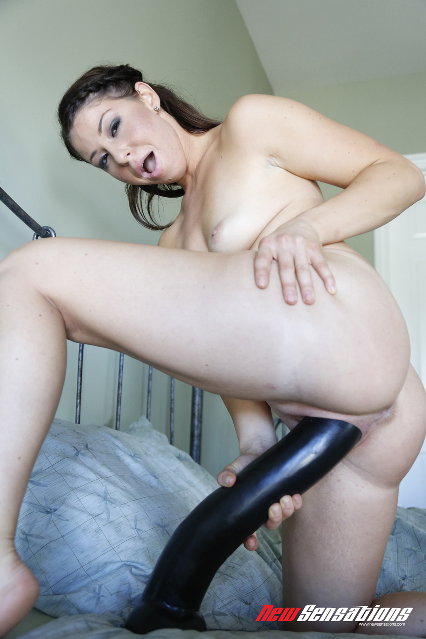 Married Man Having Fun With Big Dildo