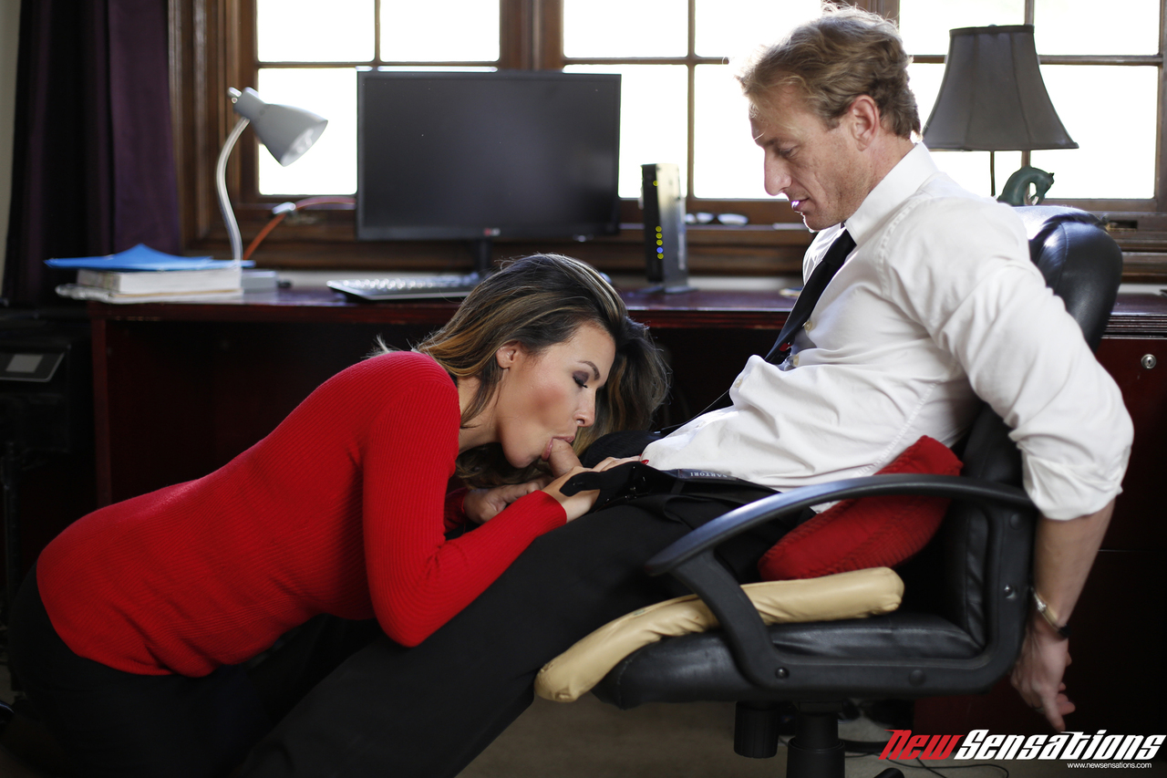 Blonde Secretary Seduces Boss