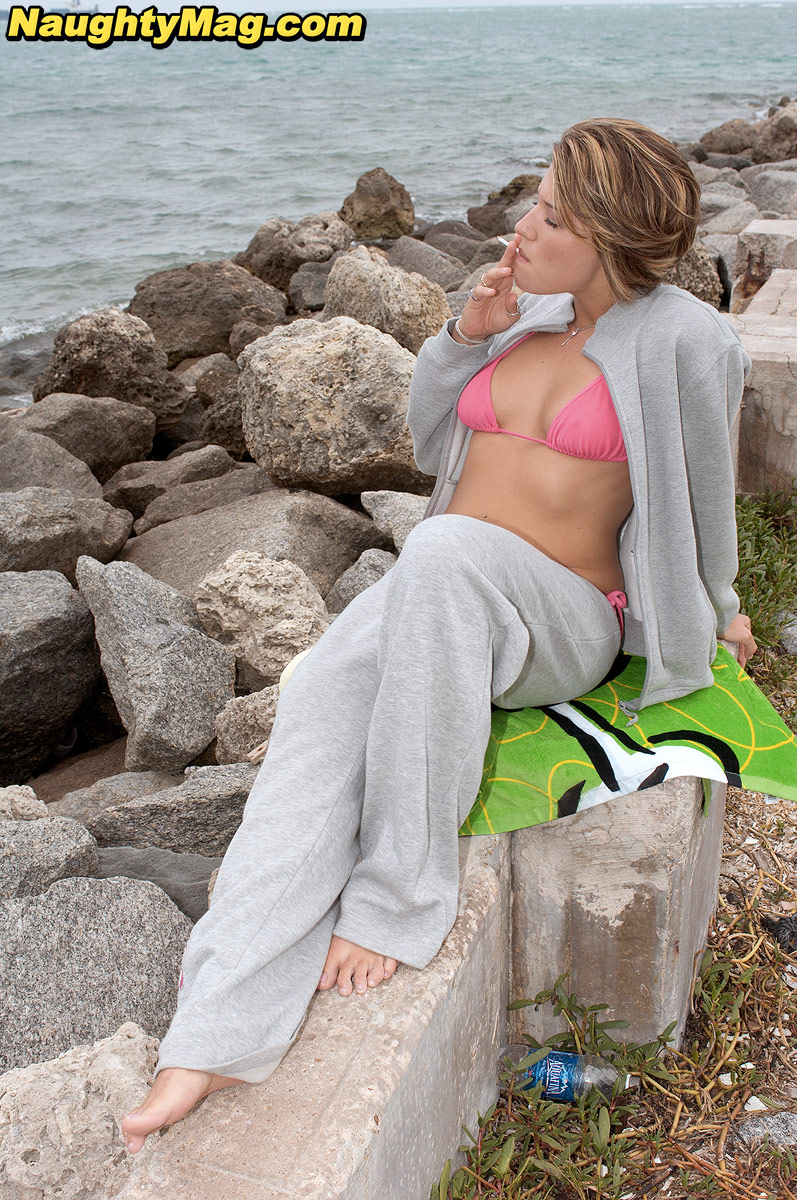 Splendid smiley Ava Cummings sheds her sweats at the beach to squat pantiless porn photo #394583063 | Naughty Mag, Ava Cummings,, mobile porn