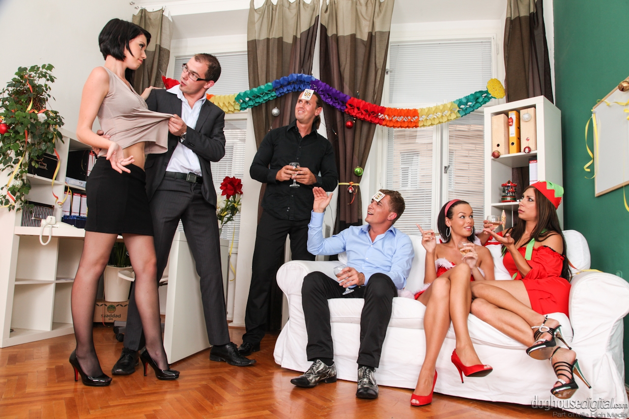 drunk sex orgy christmas - Christmas time means getting drunk and having crazy group sex for these  girls ...