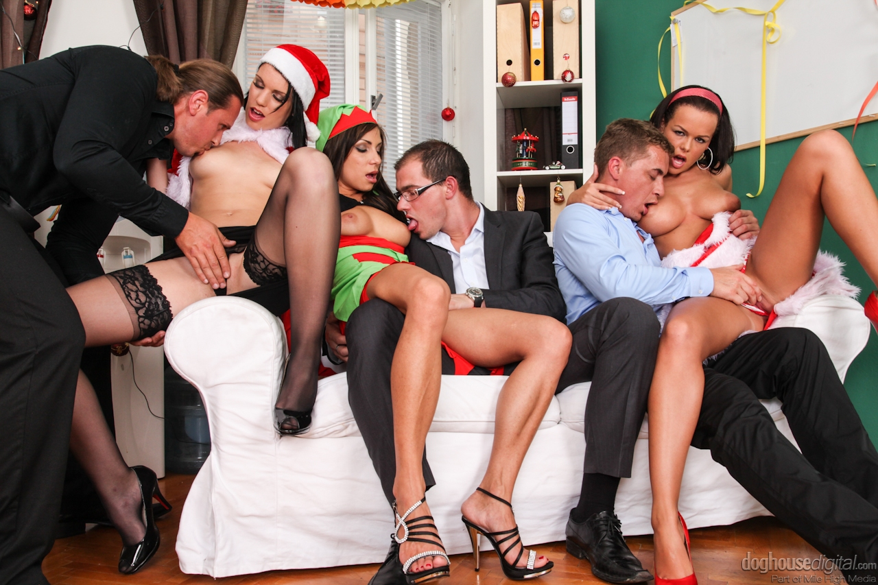 drunk sex orgy christmas - ... Christmas time means getting drunk and having crazy group sex for these  girls ...