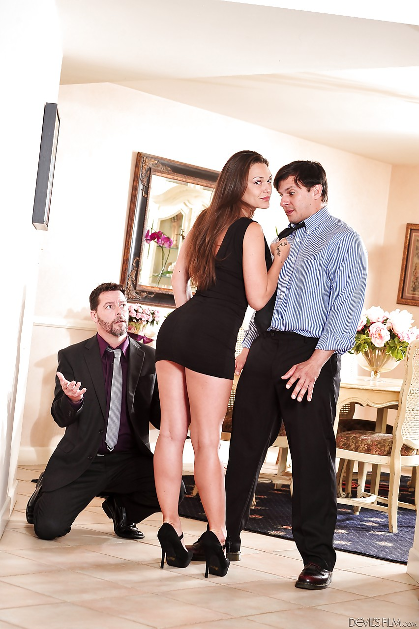 In front of cuckold