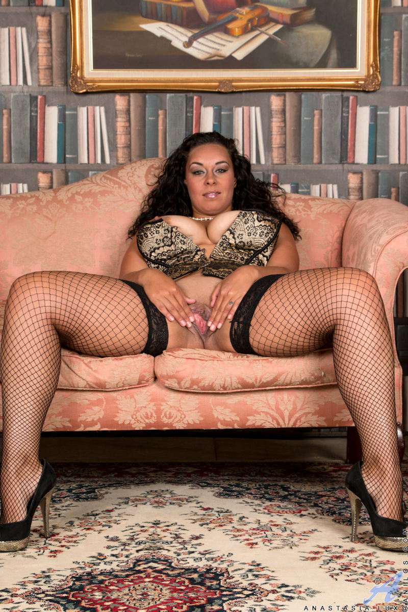 Brunette Fishnet Pantyhose Latina