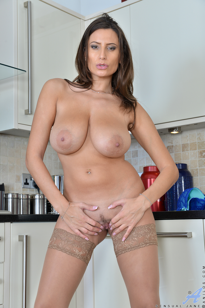 Big titted milf hot kitchen tease 3