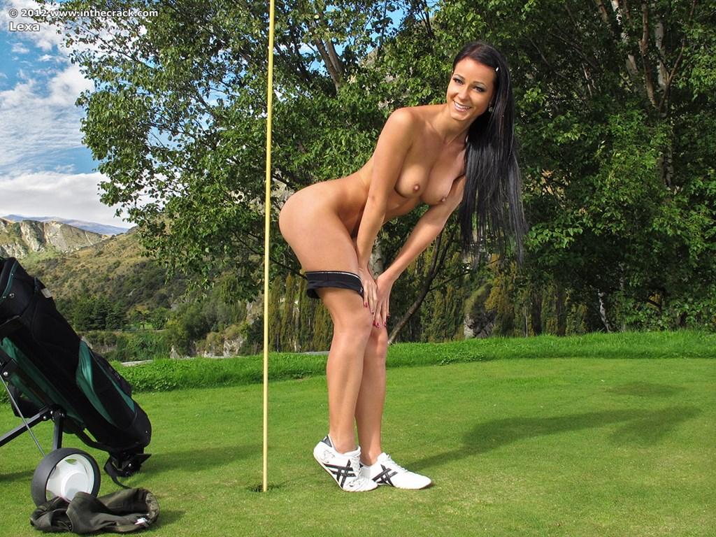 Accept. Nude girl golf course all