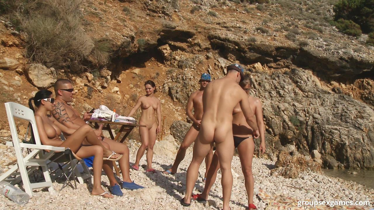 Nude beach sex games