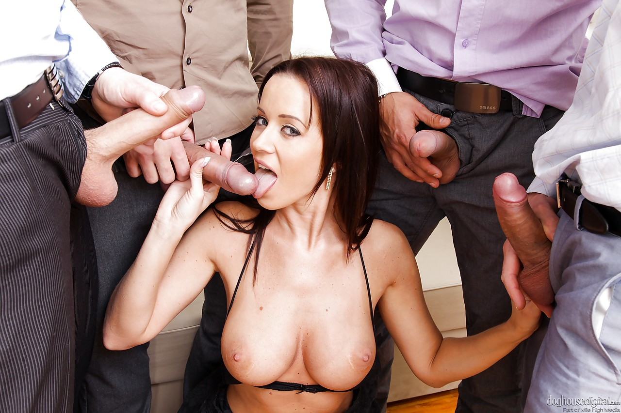 Big Tit Cum Covered Gangbang