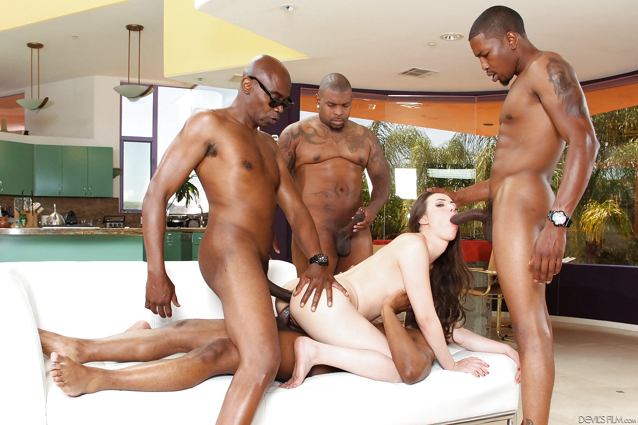 Black Men Gangbang White Teen