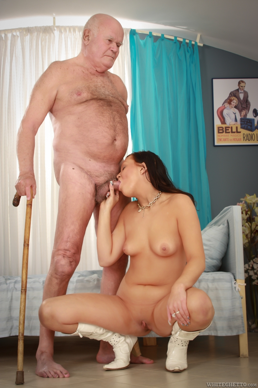 Old Man Licking Teen Pussy