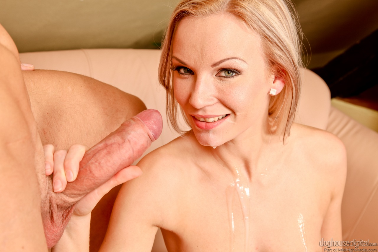 Hot blonde enjoys a big black cock 3