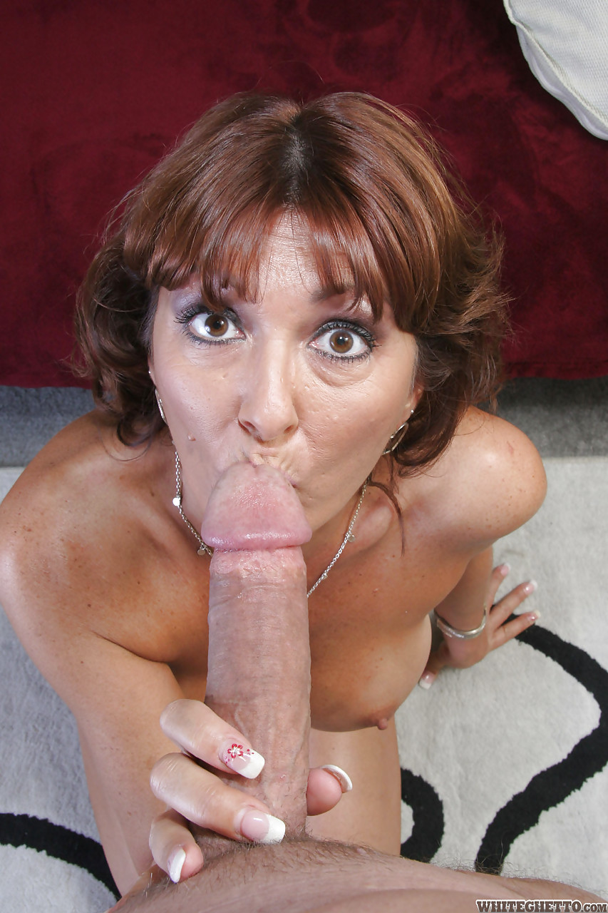 Mouth full of cock slut