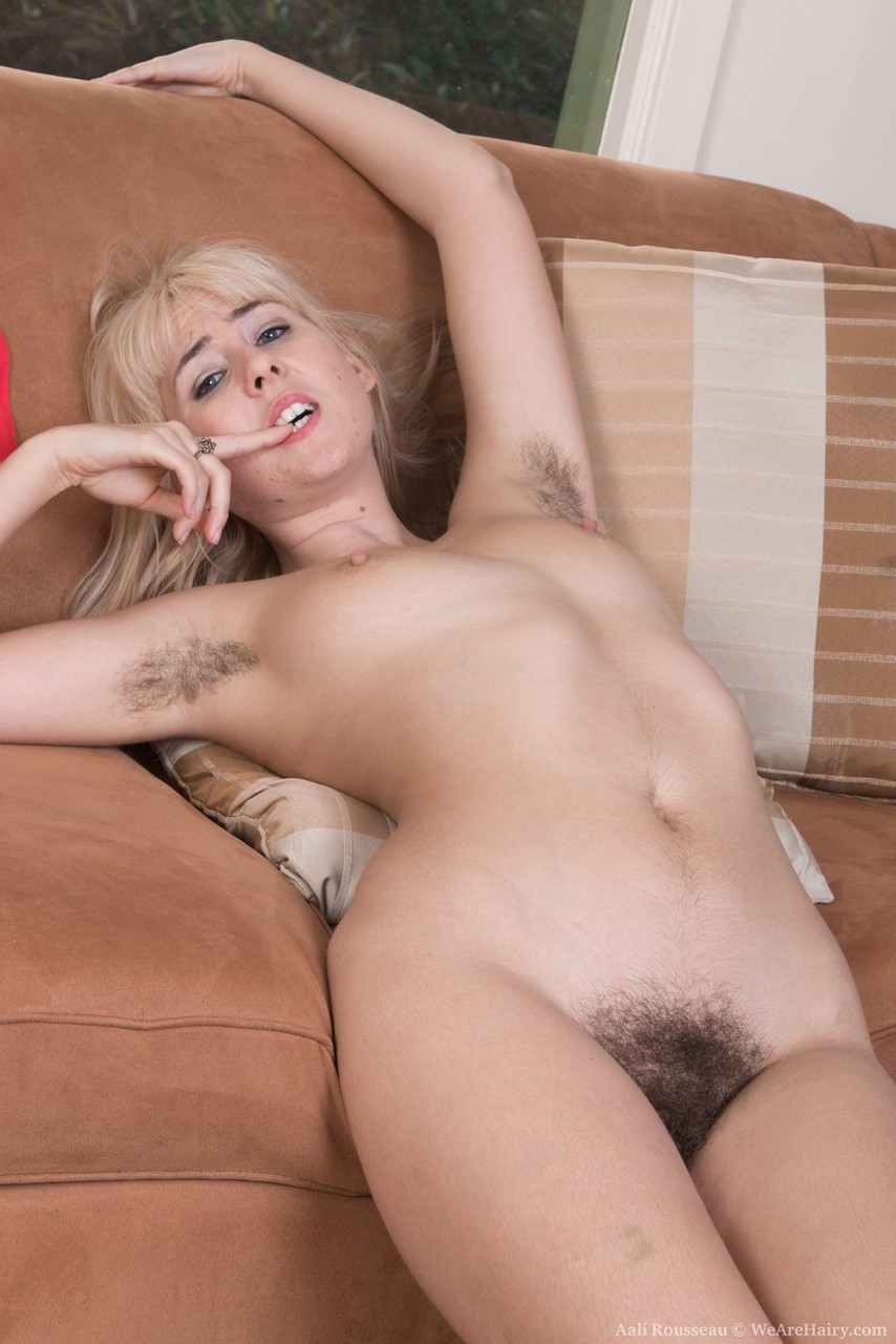 Hairy blonde nude
