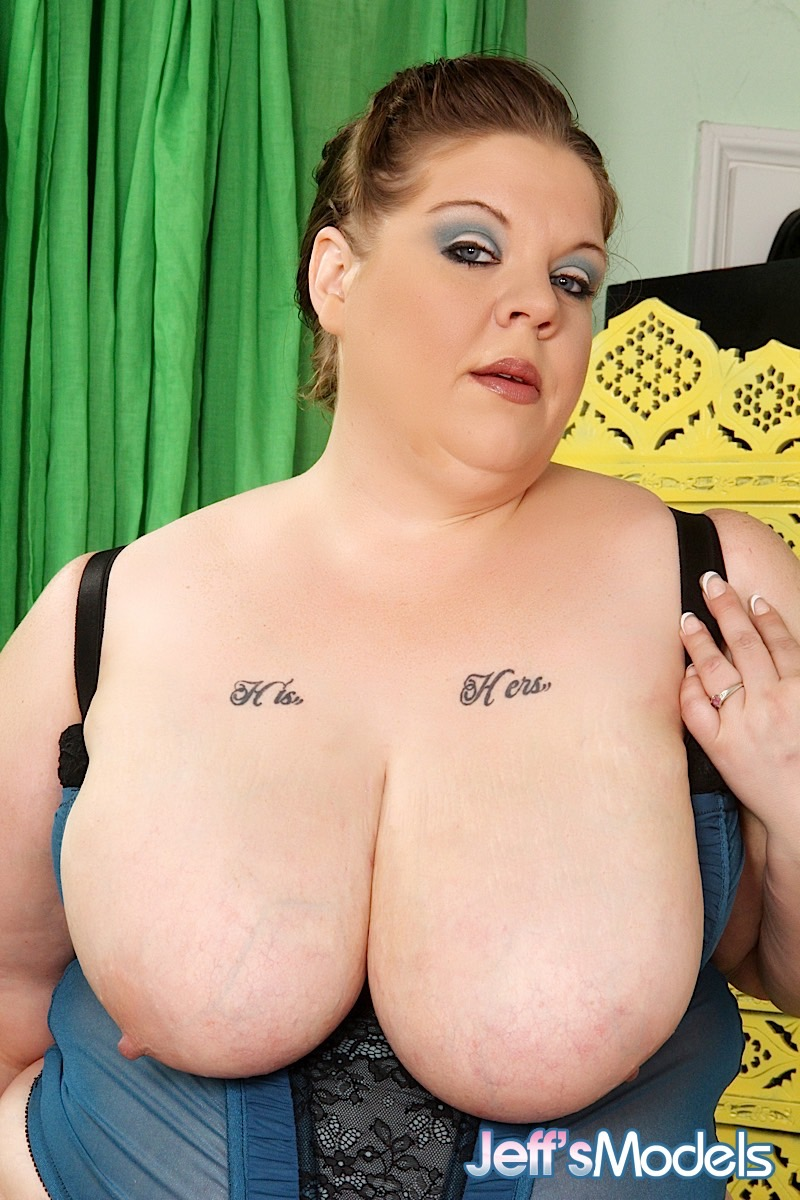 mature ssbbw kitty nation shocks in black lace panties & stuffs bald