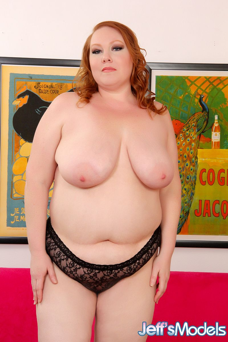 Fat naked redhead