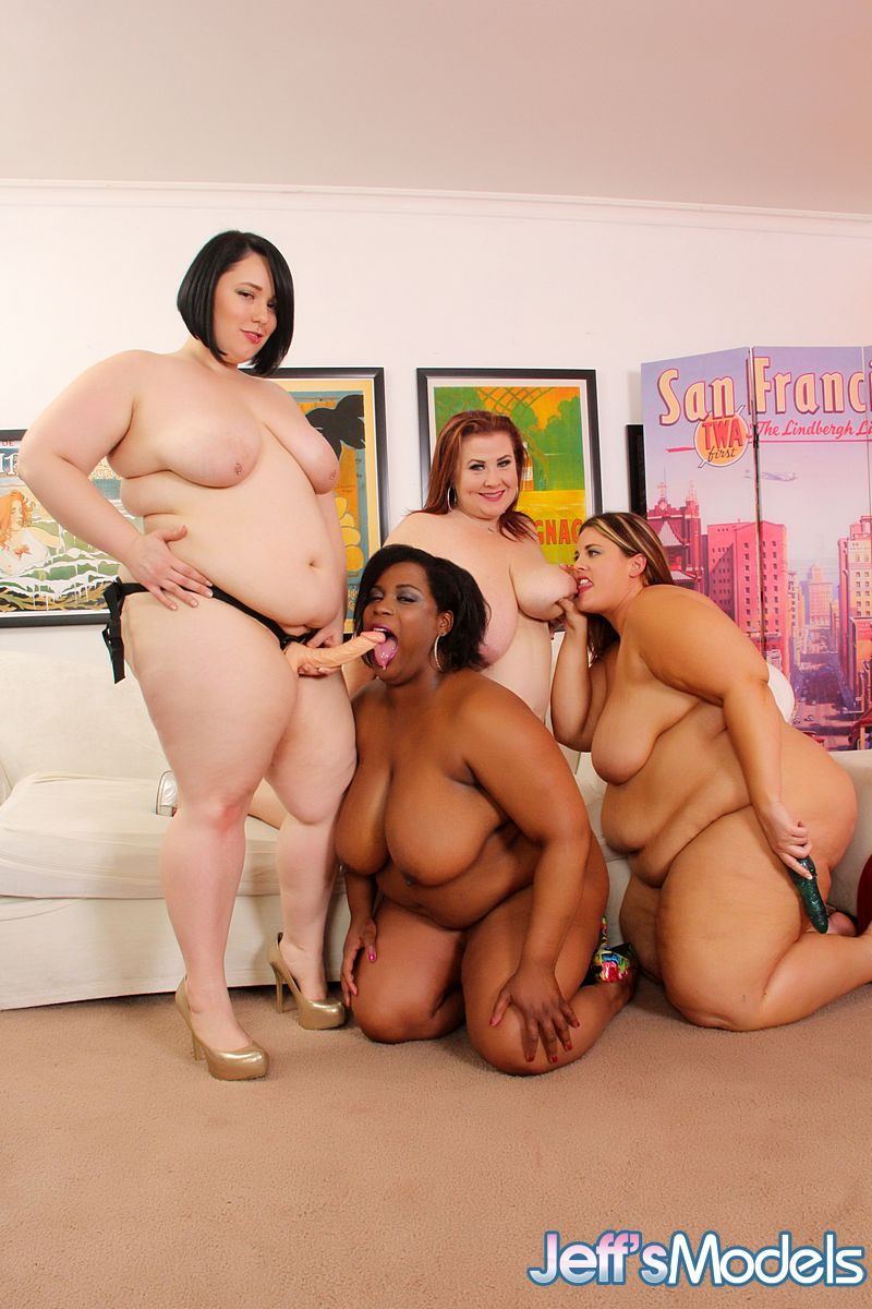 Ebony bbw strapon