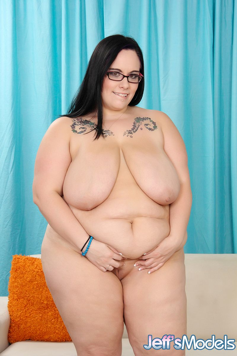 ... SSBBW Lyla Everwettt in sheer lingerie baring saggy tits & spreading  bald ...