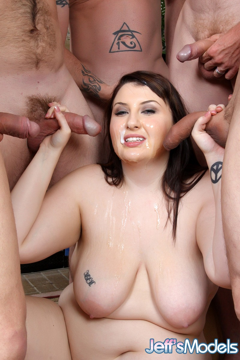 Huge tits plump women gang bang fuckpics
