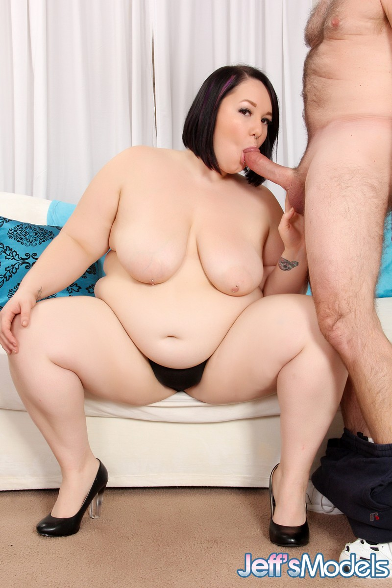 SSBBW Alexxxis Allure gets naked for messy fun with old man cock juice