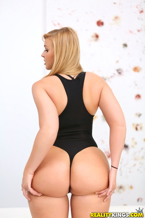 Round blonde beautiful ass