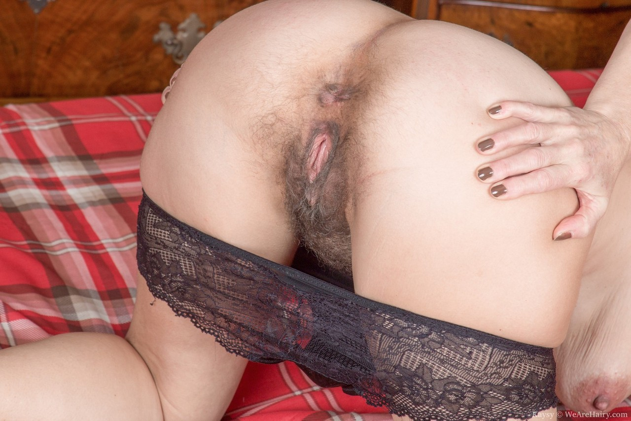 nude woman hairy ass bent over