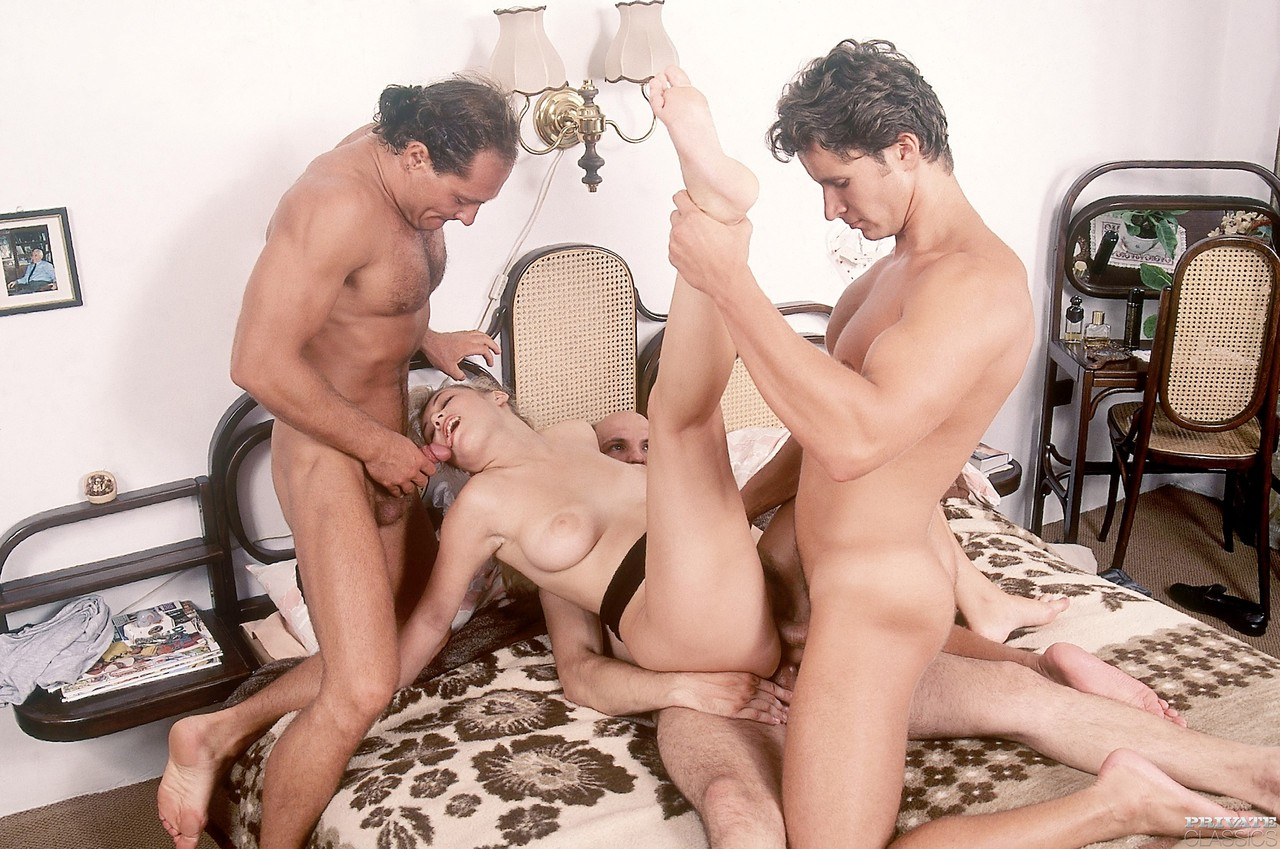 Blonde orgy party