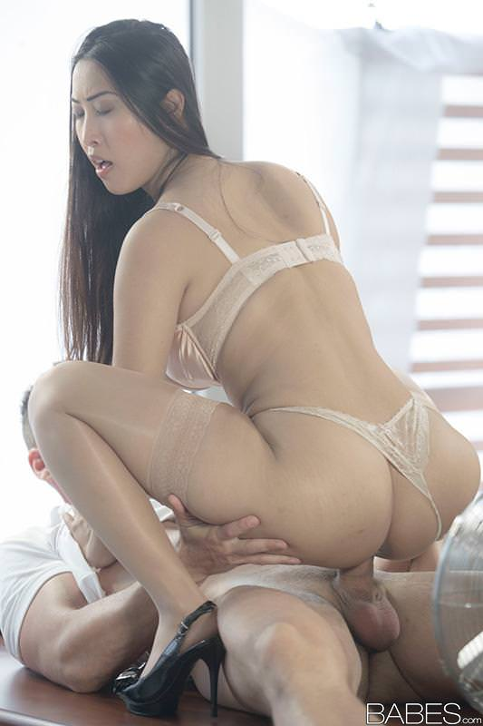 Sexy asian babe sharon lee hardcore pantyhose fetish sex 8