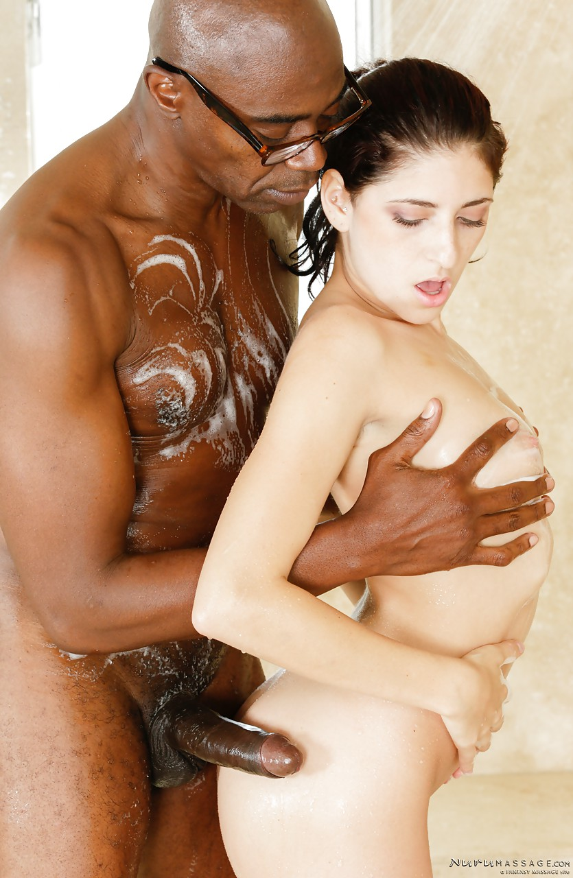 Sexy Interracial Massage