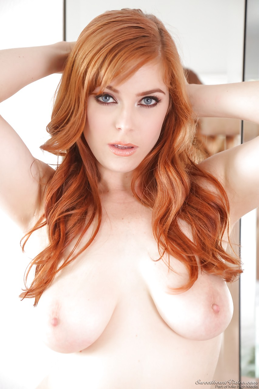 pornstar with red hair penny pax loosing big natural tits